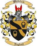 Whitelock Family Coat of Arms from England