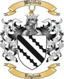 Whitfeld Family Crest from England