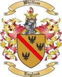 Whittam Family Crest from England