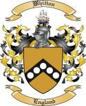 Whitton Family Crest from England