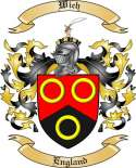 Wich Family Crest from England