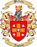 Wicketts Family Crest from England