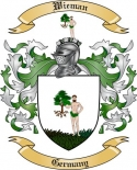 Wieman Family Crest from Germany