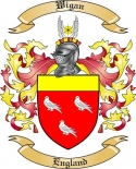 Wigan Family Coat of Arms from England