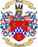 Wight Family Coat of Arms from England