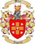 Wiket Family Crest from England