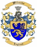 Wilcocks Family Crest from England