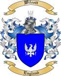 Wilcott Family Crest from England