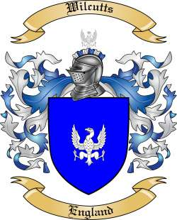 Wilcutts Family Coat of Arms from England
