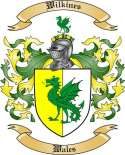 Wilkines Family Crest from Wales