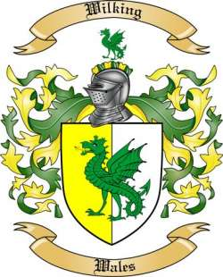 Wilking Family Crest from Wales