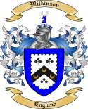Wilkinson Family Crest from England