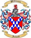 Wilkinson Family Crest from Ireland