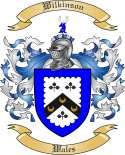 Wilkinson Family Crest from Wales