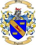 Willey Family Coat of Arms from England