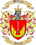 Williams Family Crest from Ireland
