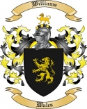 Williams Family Crest from Wales