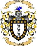 Willies Family Crest from England