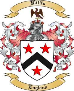 Willis Family Crest From England By The Tree Maker