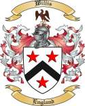 Willis Family Crest from England