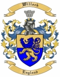 Willock Family Crest from England