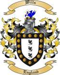 Wills Family Crest from England