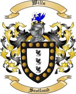 Wills Family Crest from Scotland by The Tree Maker