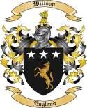 Willson Family Crest from England