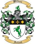 Willson Family Crest from Ireland