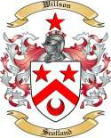 Willson Family Crest from Scotland