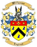 Willyams Family Crest from England