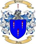 Yacucci Family Crest from Italy