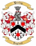 Yaxley Family Coat of Arms from England