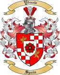 Yduate Family Crest from Spain