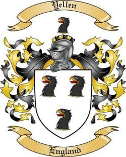 Yellen Family Crest from England