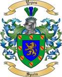 Yepes Family Coat of Arms from Spain