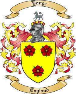 yonge family crest from england by the tree maker