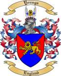Youngs Family Coat of Arms from England2