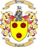 Youngs Family Crest from England