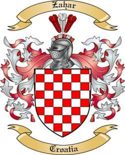 Zahar Family Coat of Arms from Croatia