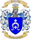 Zahorsky Family Crest from Czechoslovakia