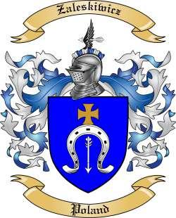 Zaleskiwicz Family Crest from Poland