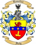 Zamolini Family Coat of Arms from Italy