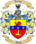 Zampa Family Coat of Arms from Italy
