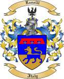 Zanelli Family Crest from Italy