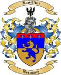 Zanettini Family Coat of Arms from Germany