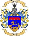 Zanetto Family Crest from Italy