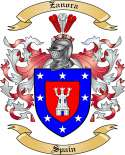 Zanora Family Crest from Spain