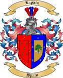 Zapata Family Coat of Arms from Spain