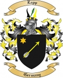Zapp Family Crest from Germany